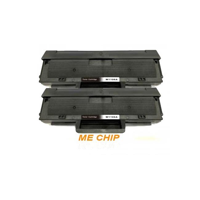 HP W1106A / HP 106A DUAL PACK Συμβατά Toner  ME CHIP (1000 ΣΕΛΙΔΕΣ ΕΚΑΣΤΟ)   Συμβατό με :HP LASER MFP 135a / 135w / 135r / 137fnw / 107a / 107w / 107r